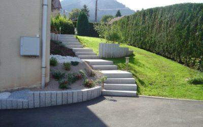 Escalier extérieur à Saint-Dié